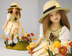 In the Garden 11 Inch Tall Felt Doll Edition Size: 20 Created in 2011