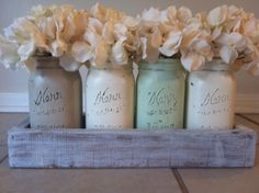 Kitchen, Most Inspiring Everyday Kitchen Table Centerpieces: Sweet Mason Jars For Rustic Decorating Idea