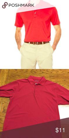 Pro Tour performance golf shirt Red Pro Tour performance golf shirt. 100% polyester, great condition Pro Tour Shirts Polos