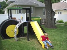 Awesome tractor playground