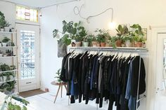. Modern secondhand clothing,  new young Dutch design, vintage items + plants . Mon - Sat  11 - 18 Sunday  12 - 17 Frans Halsstraat 35  Amsterdam .