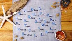 """CRéAdeS - Collection bord de mer : """"abcoquillage"""""""