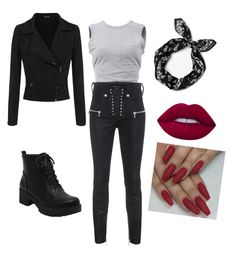Punk pin up by jazzydyelove on Polyvore featuring polyvore, moda, style, T By Alexander Wang, Unravel, rag & bone, Lime Crime, fashion and clothing