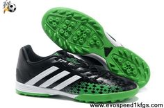 Buy Black Green White 2013 adidas Predator TF Soccer Boots Shop
