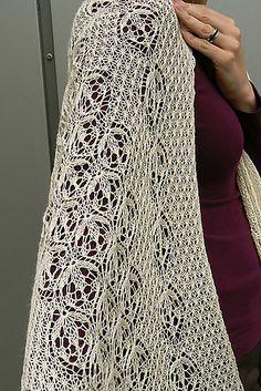 a stole to die for, free pattern @Af 18/1/13 - dieses estnische Blumenmuster lässt mich zur Zeit nicht los (allgemein, nicht nur diese Stola)