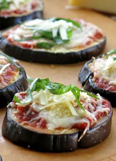 Easy Eggplant Parmesan Stacks - a healthy and low-carb appetizer or dinner!