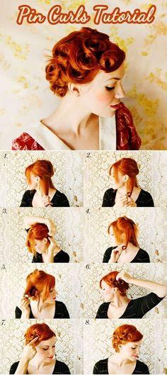 くるんっとかわいい♡ヴィンテージ感あふれるレトロヘアは『ピンカール』で作ります♩にて紹介している画像