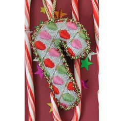 Candy Cane with Christmas Lights needlepoint from Burnett & Bradley (formerly ACOD)
