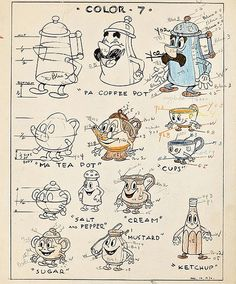 Character Model Sheets From Animation History 1930s Cartoons, Vintage Cartoons, Old School Cartoons, Classic Cartoons, Drawing Cartoon Characters, Cartoon Sketches, Cartoon Styles, Character Model Sheet, Character Modeling