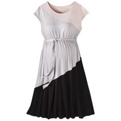 5a7159d93f879 Liz Lange® for Target® Maternity Short-Sleeve Colorblock Dress - Pink Gray