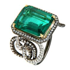 AAENEA Emerald Sarpa Ring