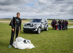 British adventurer Bear Grylls demonstrates world-first Land Rover seat folding…