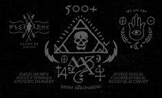 219a19b22da 500+ Occult Symbols and Esoteric Designs - Vector Collection