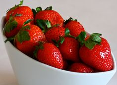 I love love love strawberries. Not just good, but also good for you.