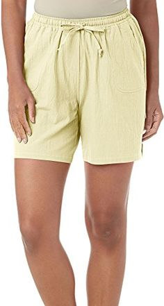 Cathy Daniels Womens Crinkle Cotton Pull On Shorts ** To view further for this item, visit the image link.
