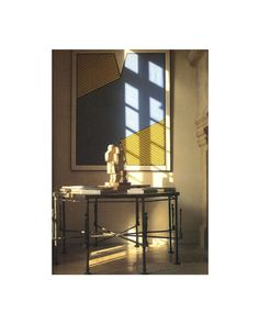 Inside the salon of Château du Jonchet, Hubert De Givenchy's country estate, a Jacques Lipchitz sculpture and a Krouchnick painting hanging above a Diego Giacometti octagonal table Octagon Table, Country Estate, Entryway Tables, Sculpture, Painting, Inspiration, Furniture, Home Decor, Biblical Inspiration