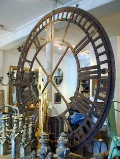 19th c French Iron Clock Face www.appleyhoare.com