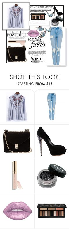 """""""contest"""" by escalade1 ❤ liked on Polyvore featuring WithChic, Valentino, Casadei, Beautycounter and Kat Von D"""