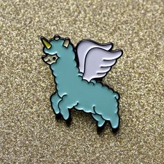 Hey, I found this really awesome Etsy listing at https://www.etsy.com/listing/461288172/alpacacorn-enamel-lapel-pin-mint-green
