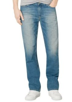 Calvin Klein Jeans Silver Blue Silver Bullet Straight Leg Jeans