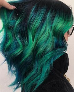 Pulp Riot Blue To Green Hair Colors for Medium Hair in can find Green hair and more on our website.Pulp Riot Blue To Green Hair Colors for Medium Hair in 2019 Ombre Pastel Hair, Bob Pastel, Grunge Pastel, Green Hair Ombre, Green Hair Colors, Cool Hair Color, Lilac Hair, Gray Hair, Vivid Hair Color