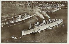 Cunard Line - Queen Elizabeth - Ocean Liner Postcards