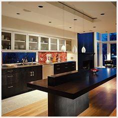 Modern Interior home design kitchen, love the look of the center island Modern Home Interior Design, Modern House Design, Contemporary Interior, Kitchen Interior, Room Interior, Ultra Modern Homes, House Design Photos, Planer, Urban Kitchen