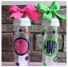Monogrammed Water Bottles! Awesome!