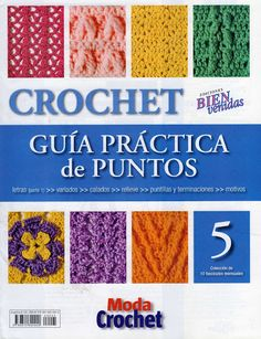 crochet stitch No 5 - book patterns) Crotchet Stitches, Crochet Stitches Patterns, Knitting Stitches, Stitch Patterns, Crochet Cross, Crochet Motif, Knit Crochet, Moda Crochet, Knitting Magazine