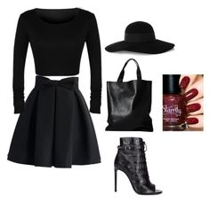"""""""..."""" by mediasky ❤ liked on Polyvore featuring Chicwish, Yves Saint Laurent, London Edit and Eugenia Kim"""