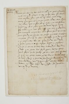 Bid Live on Lot 42 in the Letters & Autographed Manuscripts - Written by Women Auction from Ader Nordmann. Rey Enrique, How To Speak Russian, Renaissance, French History, The Saleroom, Ader, Henri, Auction, Lettering