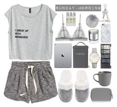 """Sunday Morning rain is falling..."" by marbiotic ❤ liked on Polyvore featuring Victoria's Secret, H&M, Garden Trading, Royal Doulton, Anya Hindmarch, CLUSE, Uncommon, D.L. & Co. and Le Labo"