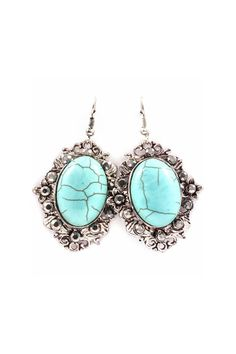Leigh Earrings in Turquoise.