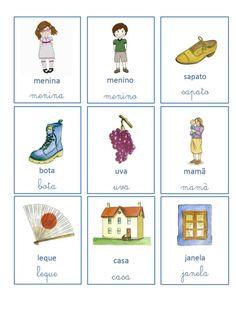 Mini cartões 28 palavras English Activities, Worksheets, Language, Mini, Teaching, Education, School, Baby Smart, Special Education Activities
