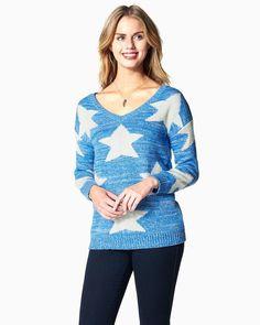Such a pretty blue sweater #ad