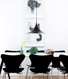 35 lamper over dit spisebord i spisestuen