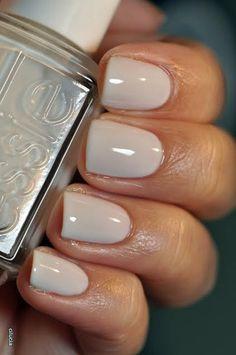 wedding nails. Essie marshmallow