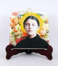 Saint Gemma Galgani collectible ceramic tile by TerryTiles2014