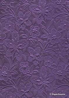 Bloom - Violet | Handmade Embossed A4 Pearlescent Paper | Crafty Paper