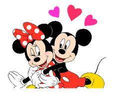 Lovely Mickey and Minnie by The Walt Disney Company (Japan) Ltd. Mickey Mouse Stickers, Mickey Mouse Images, Minnie Mouse Pictures, Mickey Mouse Wallpaper, Mickey Mouse Cartoon, Disney Fun, Disney Mickey Mouse, Walt Disney, Mickey And Minnie Love