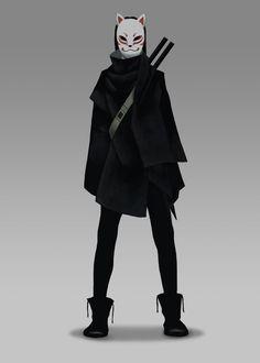kitsune cran julian on artstation at www artstat - The world's most private search engine Fantasy Character Design, Character Design Inspiration, Character Concept, Character Art, Concept Art, Inspiration Art, Kitsune Maske, Mask Drawing, Lol League Of Legends
