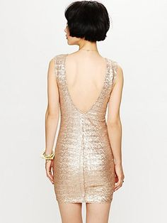 Champagne sequin dress!