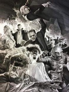 Monsters Inc, Universal Monsters, Horror Monsters, Famous Monsters, Classic Monster Movies, Classic Horror Movies, Classic Monsters, Dracula, Poster Print