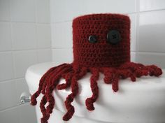 Crochet pattern: Crazy Little Octopus | Crafty Crafty  Toilet paper cover up