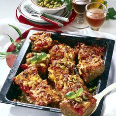 Hackfleisch-Pizza mit Paprika Rezept