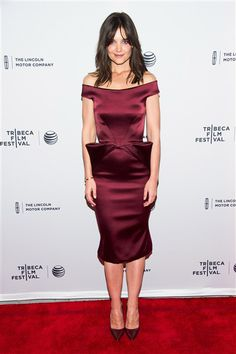 """Katie Holmes attends the premiere of """"Miss Meadows"""" during the Tribeca Film Festival in New York on April 21, 2014."""