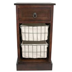 Three Drawer Walnut Storage Table - Overstock™ Shopping - Great Deals on J Hunt and Company Coffee, Sofa & End Tables