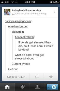 Stressed coral - Imgur