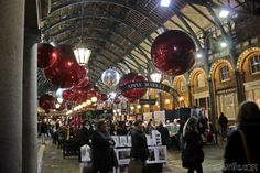 Covent Garden in London zur Weihnachtszeit