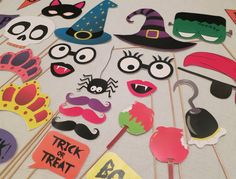seasonal photo booth props printables 4 festive sets available - Halloween Photography Props